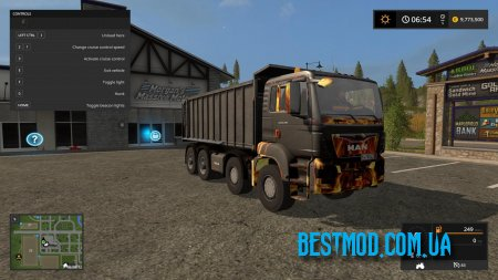 MAN TGS TIPPER FIRE V1.0 ДЛЯ FARMING SIMULATOR 2017