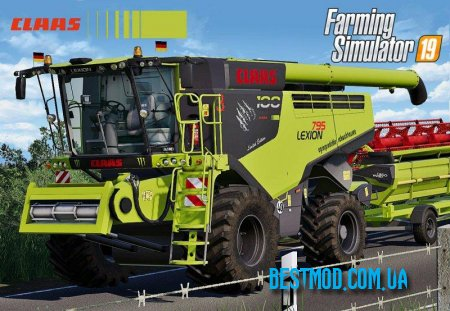 CLAAS LEXION 795 MONSTER LIMITED EDITION V1.0.0.0 ДЛЯ FARMING SIMULATOR 2019