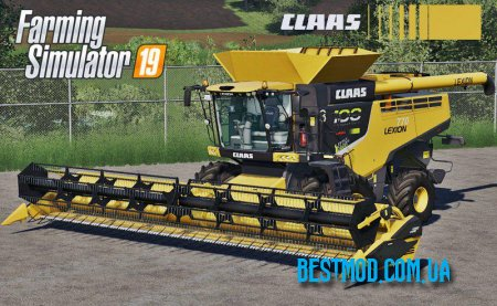 CLAAS LEXION 700 SERIES USA EDITION V1.0 ДЛЯ FARMING SIMULATOR 2019
