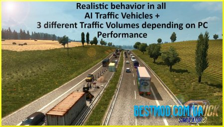 AI TRAFFIC MOD HIGH INTENSITY ДЛЯ EURO TRUCK SIMULATOR 2