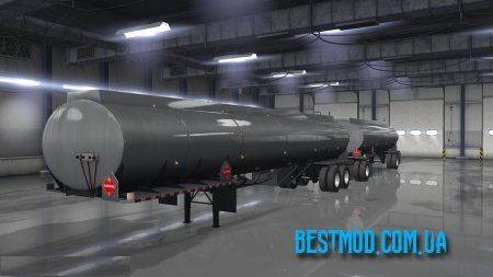 DOUBLES AND RMD TANKERS ВЕРСИЯ 1.1 ДЛЯ AMERICАN TRUCK SIMULATOR