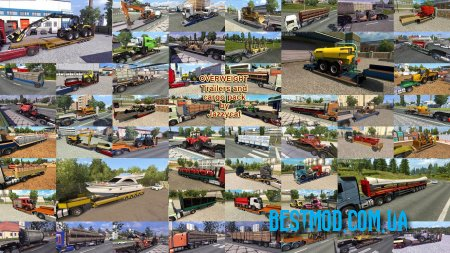 OVERWEIGHT TRAILERS AND CARGO PACK V8.1.1 ДЛЯ EURO TRUCK SIMULATOR 2