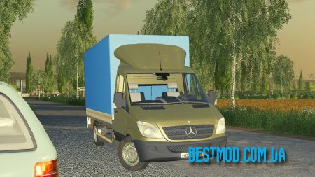 MERCEDES SPRINTER PICKUP V1.0 РУС ДЛЯ FARMING SIMULATOR 2019